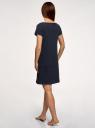 Платье домашнее с принтом oodji #SECTION_NAME# (синий), 59801006-21/46154/7912P - вид 3