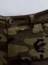 Джинсы милитари с отстрочками oodji #SECTION_NAME# (зеленый), 12104074/47745/2966O - вид 4