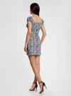 Платье хлопковое со сборками на груди oodji #SECTION_NAME# (серый), 11902047-2B/14885/1029L - вид 3