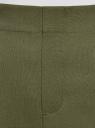 Брюки укороченные на эластичном поясе oodji #SECTION_NAME# (зеленый), 11706203-5B/14917/6800N - вид 5