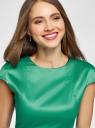 Платье-футляр с вырезом-лодочкой oodji для женщины (зеленый), 11902163-1/32700/6E00N