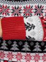 Свитер прямого силуэта с зимним узором oodji для женщины (красный), 64407132-2/42045/4512J