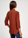Блузка вискозная с нагрудными карманами oodji #SECTION_NAME# (коричневый), 11403225-7B/42540/4901N - вид 3