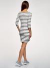 Платье трикотажное базовое oodji для женщины (белый), 14001071-2B/46148/1279S - вид 3