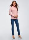 Рубашка базовая из хлопка oodji для женщины (розовый), 13K03007B/26357/4001N