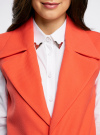Жилет удлиненный с декоративными пуговицами oodji #SECTION_NAME# (оранжевый), 22305001-3/46415/5500N - вид 4