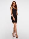 Платье базовое из плотной ткани с сердцевидным вырезом oodji для женщины (черный), 11902160/14917/2900N