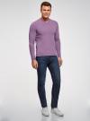 Пуловер базовый с V-образным вырезом oodji #SECTION_NAME# (фиолетовый), 4B212007M-1/34390N/8001M - вид 6