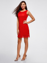 Платье из кружева без рукавов oodji #SECTION_NAME# (красный), 11905022-2/42984/4500N - вид 5