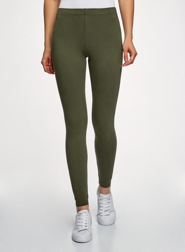Легинсы базовые oodji для женщины (зеленый), 18700028-7B/46159/6901N