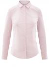 Блузка приталенная в горошек oodji #SECTION_NAME# (розовый), 11403227/46079/1040G