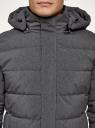 Куртка удлиненная с капюшоном oodji #SECTION_NAME# (серый), 1L113003M/49541N/2500M - вид 4
