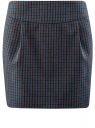 Юбка короткая с карманами oodji для женщины (синий), 11605056-3/45839/7949C