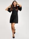 Платье из искусственной замши свободного силуэта oodji #SECTION_NAME# (черный), 18L11001/45622/2900N - вид 2
