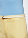 Брюки легкие прямые oodji #SECTION_NAME# (желтый), 11700195/35669/5000N - вид 4