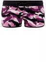 Шорты принтованные из хлопка oodji для женщины (розовый), 17001030-4/47481/294AO