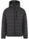 Куртка стеганая с капюшоном oodji #SECTION_NAME# (черный), 1B112027M/33743/2900N