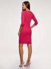 Платье трикотажное с рукавом 3/4 oodji для женщины (розовый), 24001100/42408/4D00N - вид 3
