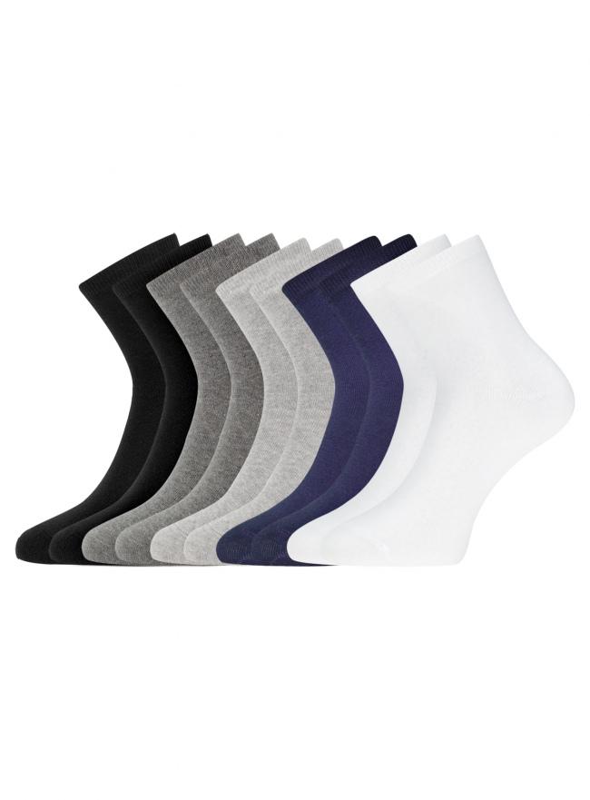 Комплект из десяти пар носков oodji для женщины (разноцветный), 57102466T10/47469/19DLN
