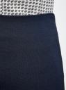 Юбка трикотажная со шлицей oodji для женщины (синий), 24101049B/45248/7900N