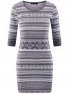 Платье жаккардовое с геометрическим узором oodji #SECTION_NAME# (фиолетовый), 14001064-5/46025/8023J