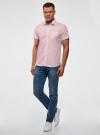 Рубашка приталенная с нагрудным карманом oodji #SECTION_NAME# (розовый), 3L210040M/46245N/4000N - вид 6