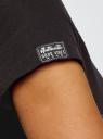 Футболка хлопковая с нашивками oodji для женщины (черный), 14701008-28/46154/2919P