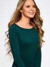 Платье трикотажное облегающего силуэта oodji для женщины (зеленый), 14001183B/46148/6E01N - вид 4