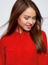 Блузка из струящейся ткани с нагрудными карманами oodji #SECTION_NAME# (красный), 11403225-6B/48853/4500N - вид 4