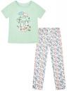 Пижама хлопковая с брюками oodji #SECTION_NAME# (зеленый), 56002200-5/46154/6510P