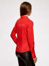 Рубашка базовая с одним карманом oodji #SECTION_NAME# (красный), 11406013/18693/4500N - вид 3