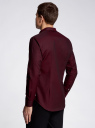 Рубашка приталенная с длинным рукавом oodji #SECTION_NAME# (красный), 3B110011M/34714N/4900N - вид 3