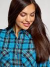 Платье-рубашка с карманами oodji #SECTION_NAME# (бирюзовый), 11911004-2/45252/7329C - вид 4