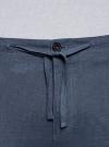 Брюки льняные на завязках oodji для мужчины (синий), 2B200018M/44233N/7501N - вид 5