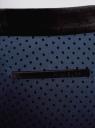 Брюки в горох с бархатным поясом oodji для женщины (синий), 11706202-1/32816/7929D