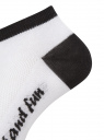 Носки укороченные (комплект из 10 пар) oodji для женщины (белый), 57102605T10/48022/5