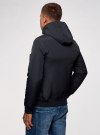 Куртка на молнии с утепленным капюшоном oodji #SECTION_NAME# (синий), 1L512017M/25276N/7900N - вид 3