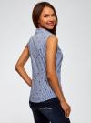 Рубашка базовая без рукавов oodji #SECTION_NAME# (синий), 14905001B/45510/1079A - вид 3