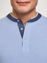 Поло хлопковое с воротником-стойкой oodji для мужчины (синий), 5L412309M/49173N/7010M
