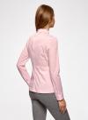 Блузка базовая с баской oodji #SECTION_NAME# (розовый), 11400444B/42083/4000N - вид 3
