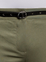 Брюки-чиносы с ремнем oodji #SECTION_NAME# (зеленый), 11706190-3B/32887/6800N - вид 4