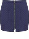 Юбка из фактурной ткани с молнией спереди oodji #SECTION_NAME# (синий), 11600410/38325/7900N