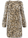 Платье из шифона с ремнем oodji #SECTION_NAME# (бежевый), 11900150-5/13632/3329A
