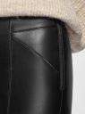 Легинсы из искусственной кожи с молниями oodji для женщины (черный), 18G07103/49342/2900N