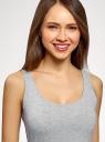Майка базовая oodji для женщины (серый), 24315001B/46147/2002M