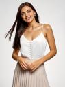 Топ в бельевом стиле на пуговицах oodji для женщины (белый), 14911020/49386/1200N
