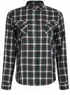 Рубашка в клетку с карманами oodji #SECTION_NAME# (зеленый), 11400433-1/43223/6E12C