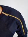 Платье трикотажное с декоративными молниями на плечах oodji для женщины (синий), 24007026/37809/7900N
