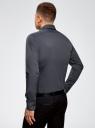 Рубашка базовая приталенная oodji #SECTION_NAME# (серый), 3B140000M/34146N/2500N - вид 3