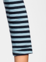 Футболка с длинным рукавом oodji для женщины (синий), 14201005B/46158/7079S
